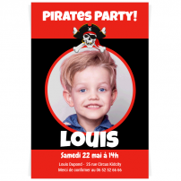 invitation anniversaire pirate photo