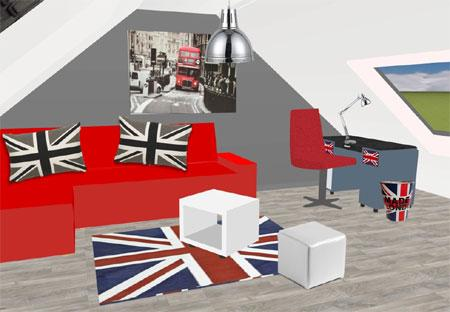 D co chambre london fille - Decoration chambre london ...