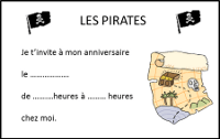 Anniversaire Pirate Fille Invitation Deco Special Filles Themes